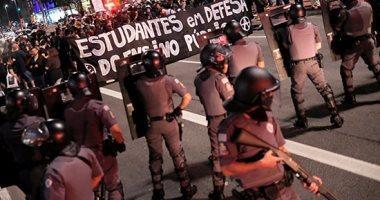 صور.. مظاهرات فى ساو باولو البرازيلية احتجاجا على خفض ميزانية التعليم
