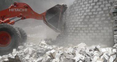 مجلس مدينة الأقصر ينفذ حملة إزالة تعديات وبناء بدون ترخيص