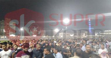 كاميرا سوبر كورة تسجل لحظات فتح ملعب الزمالك لتوزيع تذاكر مباراة نهضة بركان