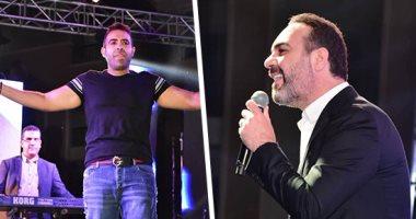 صور.. وائل جسار ومحمد عدوية يتألقان فى سهرة رمضان بحضور نجوم الفن والرياضة