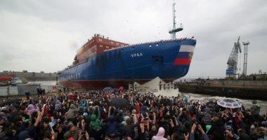 صور..روسيا تدشن كاسحة جليد نووية مع استعدادها لزيادة الملاحة بالقطب الشمالى