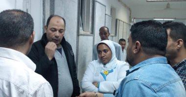 صور.. مدير صحة مطروح يتفقد أعمال تطوير مستشفى التوليد والصحة الإنجابية