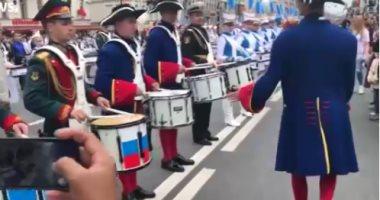 500 طبال روسى يحطمون رقماً قياسياً فى سان بطرسبرج