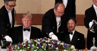مأدبة عشاء رسمية بين الإمبراطور اليابانى ودونالد ترامب