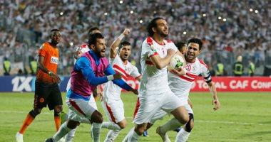 الغاء هدف للزمالك واعتراض محمود علاء في مباراة أسوان