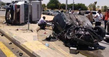 إصابة شخصين فى حادث تصادم سيارتين بطريق إسكندرية الصحراوى