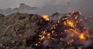 شكوى من الأدخنة المنبعثة من حرائق القمامة بمنطقة العبور