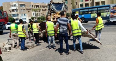 جهاز السادات ينظم حملة مكبرة لإزالة الإشغالات داخل المدينة