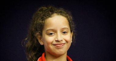 الطفلة هنا جودة تشارك مع منتخب السيدات فى بطولة العالم للطاولة