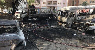 ضبط المتهم المتسبب فى إشعال النيران بجراج طوخ واحتراق 100 دراجة بخارية