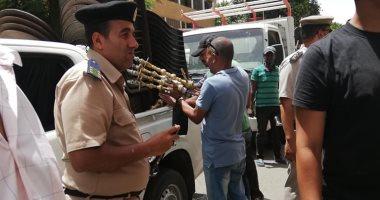 شرطة المرافق تواصل حملات إزالة الإشغالات وإعادة الانضباط لشوارع الجيزة