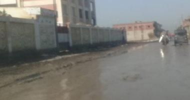 غرق قرية عزب الليسا الدقهلية بمياه الصرف الصحى