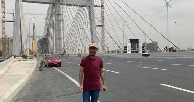 مدون إماراتى شهير يلتقط صورا من أعلى محور روض الفرج: سأدعم سياحة مصر