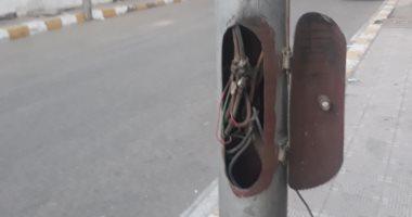 قارئ يشكو من تهالك عامود كهرباء بمجاروة 53 بالعاشر من رمضان