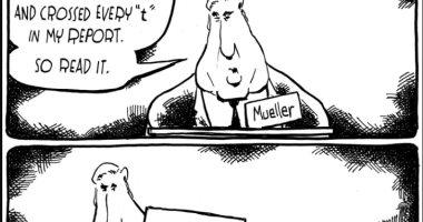 فى كاريكاتير واشنطن بوست.. مولر يدعو للبدء فى إجراءات عزل ترامب