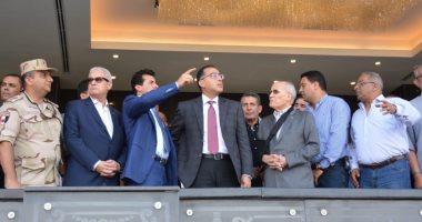 """رئيس الوزراء يطمئن على تجهيزات استاد القاهرة استعدادًا لـ""""الأمم الإفريقية"""".. صور"""