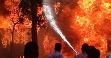 السيطرة على حريق داخل شقة سكنية فى أوسيم دون إصابات