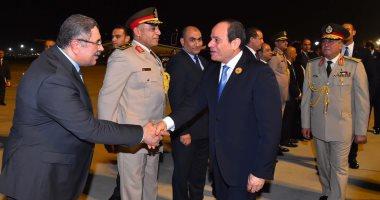 السيسى يعود إلى القاهرة بعد مشاركته فى قمتى مكة المكرمة