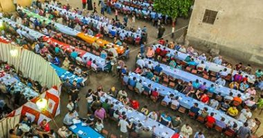 """قرية كاملة بالشرقية تنظم إفطارا جماعيا وتشارك """"صحافة المواطن"""" الصور"""