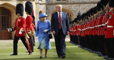 الملكة إليزابيث تستقبل ترامب فى قصر بكنجهام