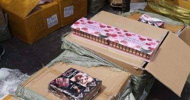 صور..ضبط 4.5 مليون قطعة مستحضرات تجميل قبل تهريب من ميناء الإسكندرية