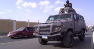 ضبط أسلحة وهاربين من أحكام فى حملة تطهير شارع مستشفى الصدر بالعمرانية