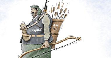 كاريكاتير الصحف الإماراتية.. سهام إيران فى يد الحوثيين