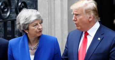 صور.. ترامب يصل لداوننج ستريت لإجراء محادثات مع رئيسة وزراء بريطانيا