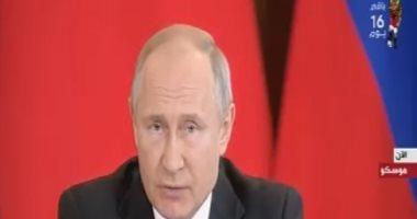 بوتين: اتفقنا مع الصين على التبادل التجارى باستخدام عملتى البلدين والتعاون النووى