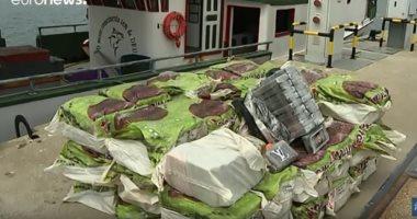 شاهد.. البرتغال تحتجز طنا من الكوكايين على متن سفينة صيد برازيلية