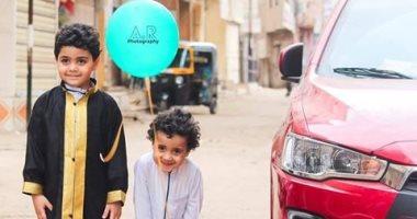 فرحة العيد.. أحمد يوثق فرحة العيد بالصور فى قرية بيلا محافظة كفر الشيخ