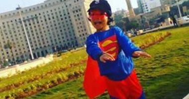 سوبرمان فى ميدان التحرير.. قارئة تشارك صور أطفالها بثانى أيام عيد الفطر