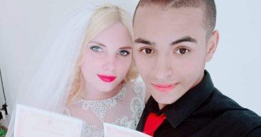 أحمد عصام.. يشارك بصور فرحه مع زوجته الأوكرانية ثانى أيام عيد الفطر