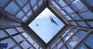 """تقدر تعوم فيه؟.حمام سباحة فوق ناطحة سحاب في لندن بأرضية شفافة """"صور"""""""