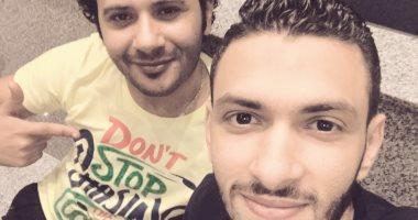 العيد أحلى فى السينما.. قارئ يشارك صوره مع صديقه باحتفالات الفطر