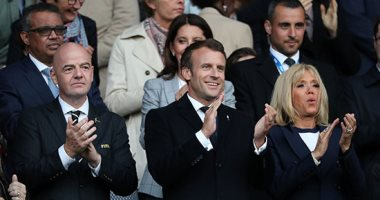 صور.. ماكرون وزوجته وإنفانتينو فى حفل افتتاح كأس العالم للسيدات فى فرنسا