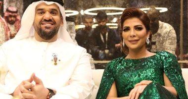 شاهد.. 10 صور من حفل حسين الجسمى مع أصالة بمناسبة عيد الفطر