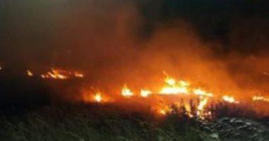 اندلاع حريق ضخم فى القسم المحتل من الجولان السورى