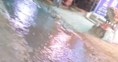 قارىء يشكو غرق شارع الزهور فى عزبة الهجانة بمياه الصرف الصحى