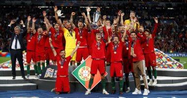 مراسم تتويج البرتغال بلقب دورى الأمم الأوروبية.. فيديو وصور
