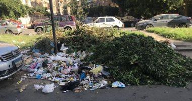تراكم القمامة بشارع الدكتور أحمد أمين بمصر الجديدة ومطالب بإزالتها