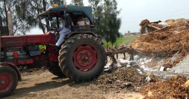 صور ..حملات لإزالة التعديات على الأراضى الزراعية والإشغالات بكفر الشيخ