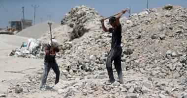 إعادة تدوير مواد البناء فى غزة