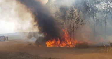 إندلاع حرائق فى 6 مناطق بمستوطنات قريبة من قطاع غزة