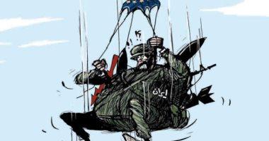 كاريكاتير الصحف السعودية : ايران تهبط بمظلة الإتحاد الأوروبى