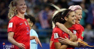 شاهد منتخب أمريكا يحقق أكبر فوز فى تاريخ كأس العالم للسيدات