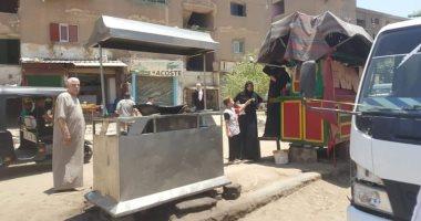 ضبط أسلحة وتنفيذ أحكام فى حملة شارع عثمان محرم بالطالبية
