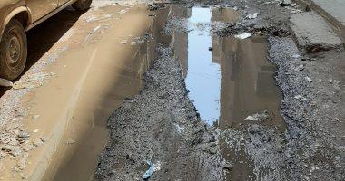انتشار مياة الصرف الصحى بعين شمس يسبب روائح كريهة بالمنطقة