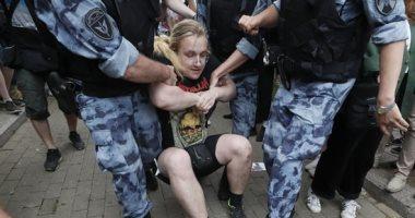 صور..القبض على 94 شخصا على الأقل فى احتجاجات بموسكو