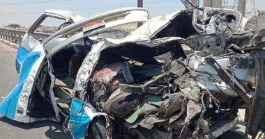 مصرع 12 شخصا فى تصادم سيارتين على طريق كفر داود -السادات بالمنوفية